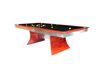 "Designer ""Aurora"" Quedos Pool Table with Ranger Green Cloth"
