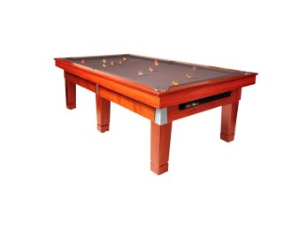 "Lifestyle ""Legacy Ball Return"" Quedos Pool Tables with Silver Cloth"