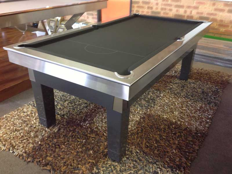 The Contemporary Ball Return Two Tone Billiards Table