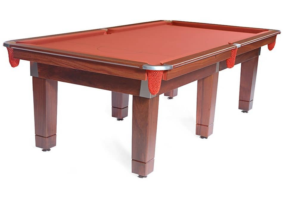 Contemporary pool table made from Jarrah.