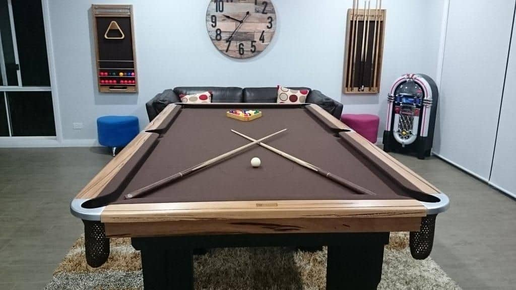 Rustic Lorenzo pool table available at Quedos.