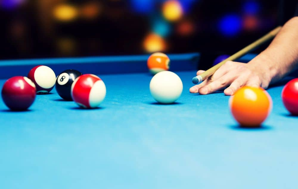 Game of pool.